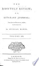 The Monthly Review  Or  Literary Journal