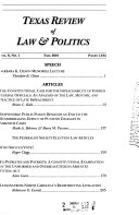 Texas Review of Law   Politics