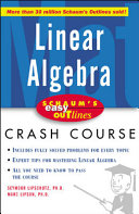 Schaum s Easy Outline of Linear Algebra