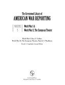 The Greenwood Library of American War Reporting: World War I & World War II, the European Theater