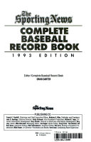 The Complete Baseball Record Book, 1993