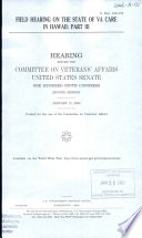 Field Hearing  on the State of VA Care in Hawaii  Part III  S  Hrg  109 376  January 13  2006  109 2 Hearing