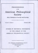 Pdf Proceedings, American Philosophical Society (vol. 97, no. 5)