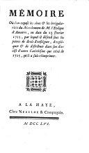 Mémoire ou l'on expose les abus et les irrégularités du Mandement de M. l'Evêque d'Auxerre en date du 23 février 1755