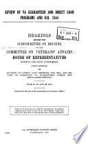 Review of VA Guaranteed and Direct Loan Programs and H.R. 3344