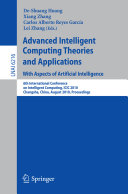 Advanced Intelligent Computing Theories and Applications: With Aspects of Artificial Intelligence