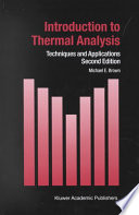 Introduction to Thermal Analysis