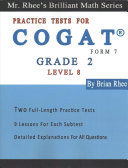 Two Full Length Practice Tests for the Cogat Form 7 Level 8  Grade 2