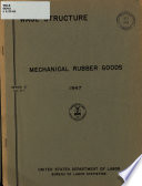 Wage Structure, Mechanical Rubber Goods, 1947