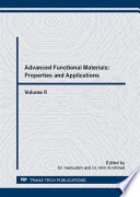 Advanced Functional Materials  Properties and Applications