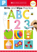 Write and Wipe Practice Flip Book  ABC 123  Scholastic Early Learners