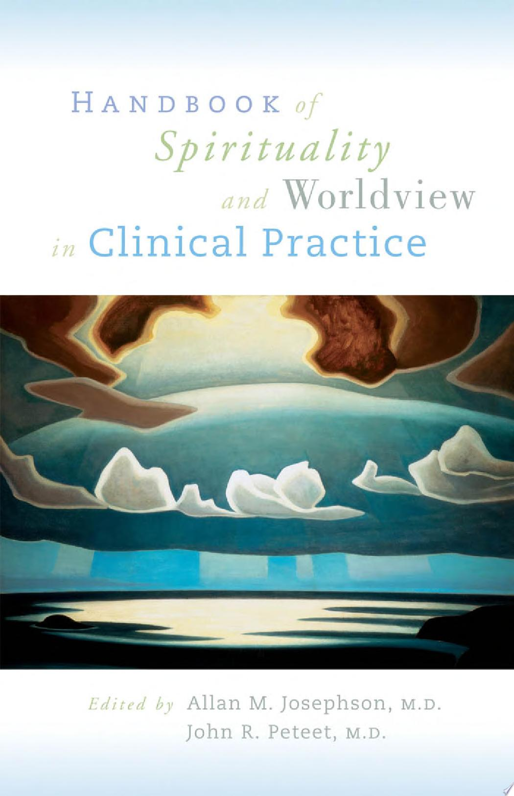 Handbook of Spirituality and Worldview in Clinical Practice
