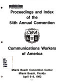 Daily Proceedings and Reports  Annual Convention of the Communications Workers of America