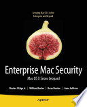 Enterprise Mac Security Mac Os X Snow Leopard