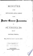 Minutes of the Virginia Baptist Anniversaries