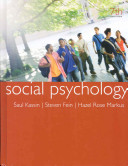 Kassin Social Psychology 7th Ed   Perrin Pocket Guide To Apa Style 2nd Ed Book