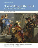 The Making of the West  Volume II  Since 1500
