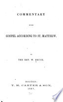 Commentary On The Gospel According To St Matthew