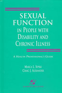Sexual Function in People with Disability and Chronic Illness