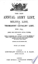 Hart's Annual Army List, Militia List, and Imperial Yeomanry List
