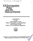 U.S. Immigration Policy and the National Interest