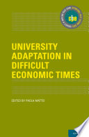 University Adaptation In Difficult Economic Times Book PDF