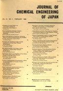 Journal Of Chemical Engineering Of Japan Book PDF