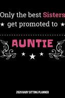 Auntie 2020 Baby Sitting Planner