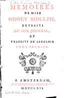 Mémoires de Miss Sidney Bidulph