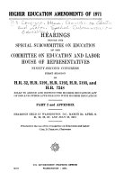 Higher Education Amendments of 1971