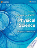 Books - Cambridge Igcse� Physical Science Physics Workbook | ISBN 9781316633526