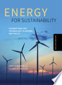 Energy for Sustainability  Second Edition