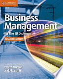 Books - Business And Management For The Ib Diploma Coursebook | ISBN 9781107464377
