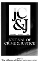 Journal of Crime   Justice