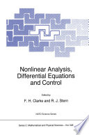 Nonlinear Analysis  Differential Equations and Control Book