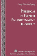 Freedom in French Enlightenment Thought