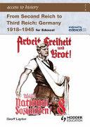 Second Reich to Third Reich Book PDF