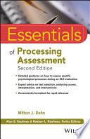 Essentials Of Processing Assessment Book PDF