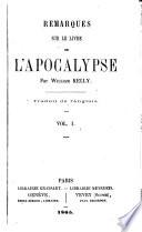 Remarques sur le livre de l'Apocalypse. Trad