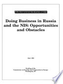 Doing Business in Russia and the NIS