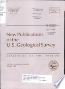 New Publications of the Geological Survey Book