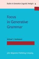 Focus in Generative Grammar [Pdf/ePub] eBook