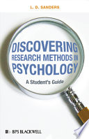 Discovering Research Methods in Psychology Book PDF
