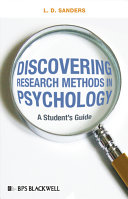 Discovering Research Methods in Psychology