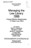Managing the Law Library