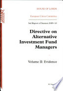 Directive on alternative investment fund managers