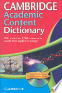 Cambridge Academic Content Dictionary Reference Book with CD ROM