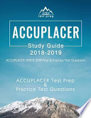 Accuplacer Study Guide 2018 & 2019