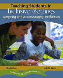 Teaching Students in Inclusive Settings