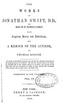 The Works of Jonathan Swift  D D